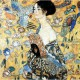 Jigsaw Puzzle - 900 Pieces - Art - Wooden - Klimt : Lady with Fan