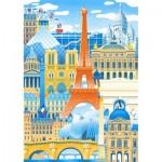 Puzzle-Michele-Wilson-K059-50 Hand-Cut Wooden Puzzle - Paris