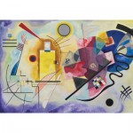 Puzzle-Michele-Wilson-K066-50 Hand-Cut Wooden Puzzle - Kandinsky - Yellow, Red, Blue