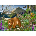 Puzzle-Michele-Wilson-K068-100 Wooden Puzzle - In the Mountains