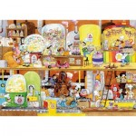 Puzzle-Michele-Wilson-K114-100 Hand-Cut Wooden Puzzle - Cacouault - Candy Factory