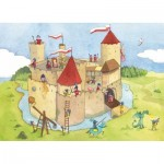 Puzzle-Michele-Wilson-K145-24 Hand-Cut Wooden Puzzle - Panic at the Château-Fort