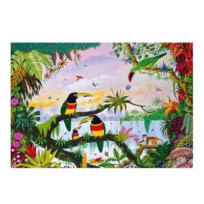 Puzzle-Michele-Wilson-K162-100 Hand-Cut Wooden Puzzle - Thomas - Jungle