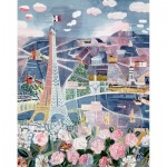 Puzzle-Michele-Wilson-K25-24 Hand-Cut Wooden Puzzle - Raoul Dufy - Paris in Spring