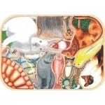 Puzzle-Michele-Wilson-K441-12 Hand-Cut Wooden Puzzle - Crazy Pets
