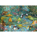 Puzzle-Michele-Wilson-K445-100 Wooden Puzzle - Crocos et Compagnie