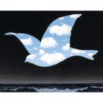 Puzzle-Michele-Wilson-K555-24 Hand-Cut Wooden Puzzle - Magritte - Bird in the Sky