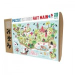Puzzle-Michele-Wilson-K591-50 Hand-Cut Wooden Puzzle - Treasure Island