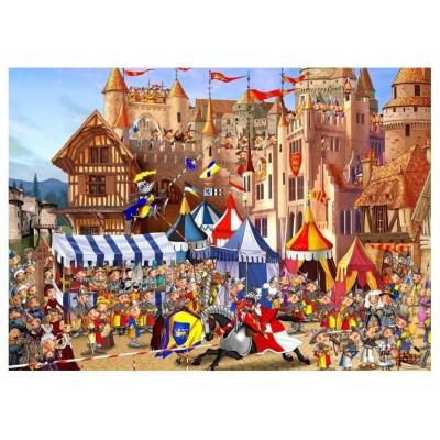 Puzzle-Michele-Wilson-K592-100 Hand-Cut Wooden Puzzle - François Ruyer - Tournament