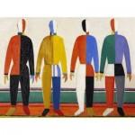 Puzzle-Michele-Wilson-K628-24 Hand-Cut Wooden Puzzle - Kasimir Malevitch - Sportsmen