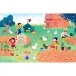 Puzzle-Michele-Wilson-K684-50 Wooden Puzzle - Pumpkin Family