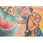 Puzzle-Michele-Wilson-K745-24 Hand-Cut Wooden Puzzle - Paul Signac - Portrait of Félix Fénéon
