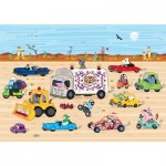 Puzzle-Michele-Wilson-K770-24 Hand-Cut Wooden Puzzle - Race in the Desert