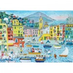 Puzzle-Michele-Wilson-K773-50 Hand-Cut Wooden Puzzle - Camogli Harbour