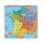 Puzzle-Michele-Wilson-K80-100 Hand-Cut Wooden Puzzle - Map of France