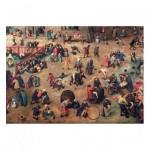Puzzle-Michele-Wilson-K904-100 Hand-Cut Wooden Puzzle - Brueghel - Children's Games