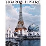 Puzzle-Michele-Wilson-M29-40 Jigsaw Puzzle - 40 Pieces - Mini - Art - Wooden - Figaro Magazine : The World Fair