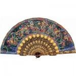 Puzzle-Michele-Wilson-P117-350 Jigsaw Puzzle - 350 Pieces - Art - Wooden - Chinese Fan : One Hundred Faces