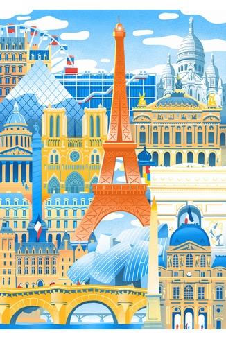 Puzzle-Michele-Wilson-W059-50 Wooden Puzzle: Paris