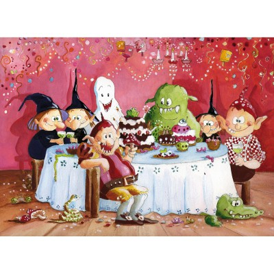 Puzzle-Michele-Wilson-W103-50 Jigsaw Puzzle - 50 Pieces - Wooden - Art - The Witches Party