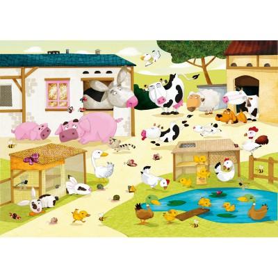 Puzzle-Michele-Wilson-W115-12 Jigsaw Puzzle - 12 Pieces - Wooden - Art - Huette : The Farm