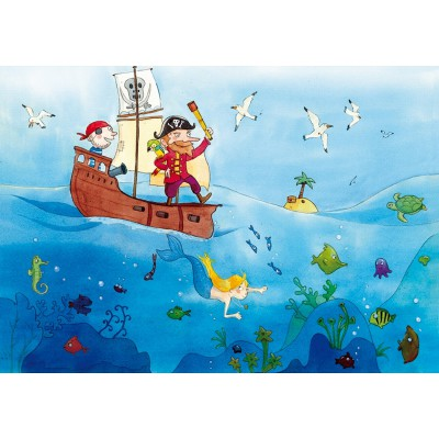 Puzzle-Michele-Wilson-W151-24 Jigsaw Puzzle - 24 Pieces - Wooden - Art - Vanvolsem : Pirates