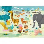 Puzzle-Michele-Wilson-W201-24 Jigsaw Puzzle - 24 Pieces - Art - Maxi - Wooden - Huette : Photo Safari