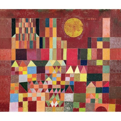 Puzzle-Michele-Wilson-W203-24 Jigsaw Puzzle - 24 Pieces - Art - Maxi - Wooden - Klee : Castle and Sun
