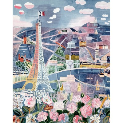 Puzzle-Michele-Wilson-W25-24 Jigsaw Puzzle - 24 Pieces - Wooden - Art - Dufy : Paris in Spring