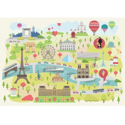 Puzzle Puzzle-Michele-Wilson-W305-24 Magda: Illustrated Paris