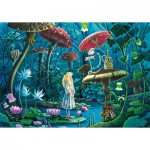Puzzle-Michele-Wilson-W443-100 Wooden Puzzle - Florence Magnin: Alice in Wonderland