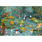 Puzzle-Michele-Wilson-W445-100 Wooden Puzzle - Ruyer: Crazy Jungle
