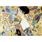 Puzzle-Michele-Wilson-W515-100 Wooden Jigsaw Puzzle - Gustav Klimt - Lady with Fan