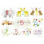 Puzzle-Michele-Wilson-W560-12 Wooden Jigsaw Puzzle - Numbers