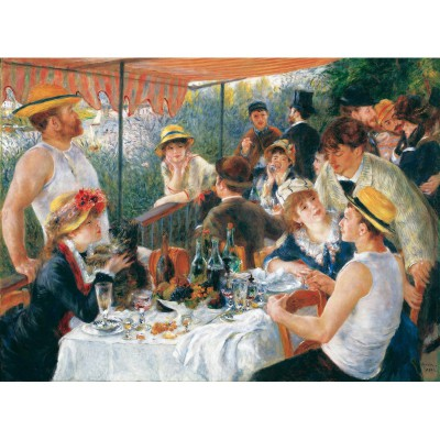 Puzzle-Michele-Wilson-W61-50 Jigsaw Puzzle - 50 Pieces - Wooden - Art - Renoir : Luncheon of the Boating Party