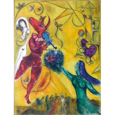 Puzzle-Michele-Wilson-W64-12 Wooden Jigsaw Puzzle - Marc Chagall - The Dance