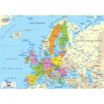 Puzzle-Michele-Wilson-W74-50 Jigsaw Puzzle - 50 Pieces - Wooden - Art - Geography : Europe Map