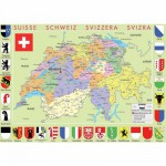 Puzzle-Michele-Wilson-W77-50 Jigsaw Puzzle - 50 Pieces - Art - Wooden - Michele Wilson : Map of Switzerland