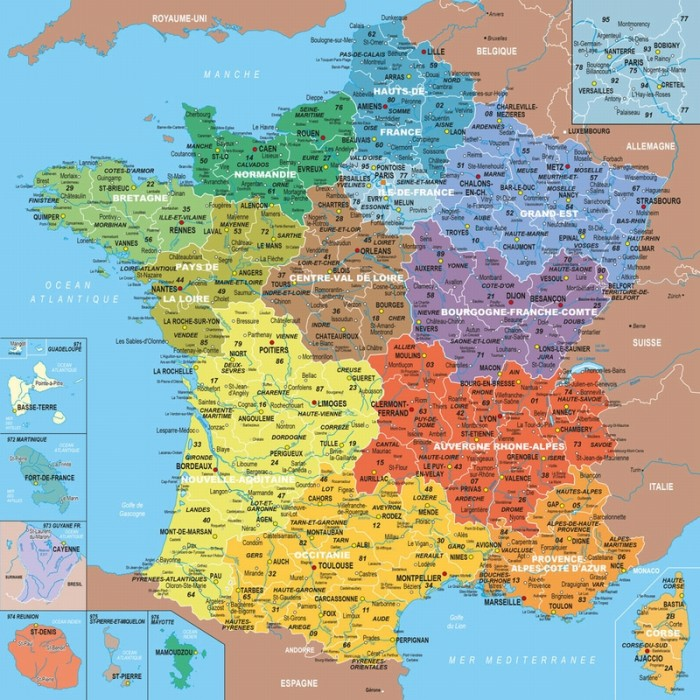 Wooden Jigsaw Puzzle - Geography : Map of France