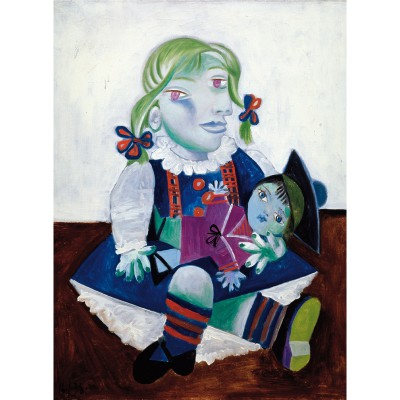 Puzzle-Michele-Wilson-W91-12 Jigsaw Puzzle - 12 Pieces - Wooden - Art - Picasso : Maya with the Doll