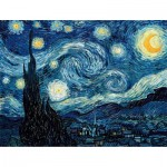Puzzle-Michele-Wilson-W94-50 Jigsaw Puzzle - 50 Pieces - Wooden - Art - Van Gogh : Starry Night