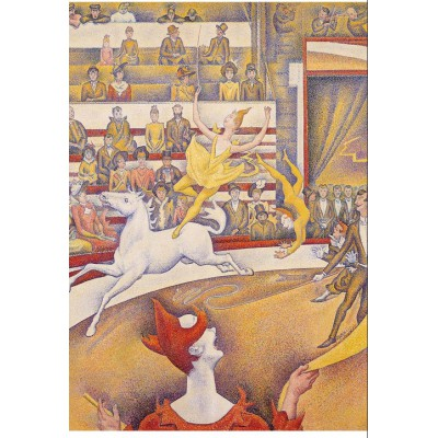 Puzzle-Michele-Wilson-W98-24 Jigsaw Puzzle - 24 Pieces - Wooden - Art - Seurat : The Circus
