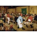 Wooden Jigsaw Puzzle - Brueghel : Peasant Wedding, 1567-1568