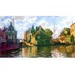 Wooden Jigsaw Puzzle - Claude Monet - Zaandam, Canal