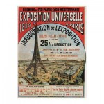 Wooden Jigsaw Puzzle - Exposition Universelle de Paris, 1889
