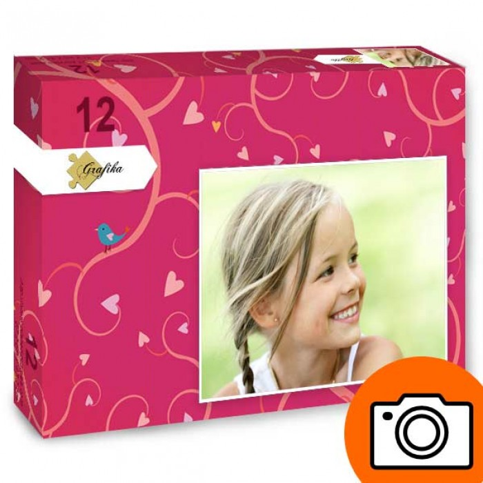 12 pieces XXL personalized photo puzzle