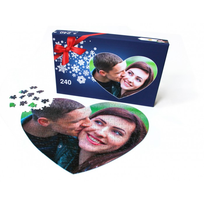240 heart pieces personalized photo puzzle