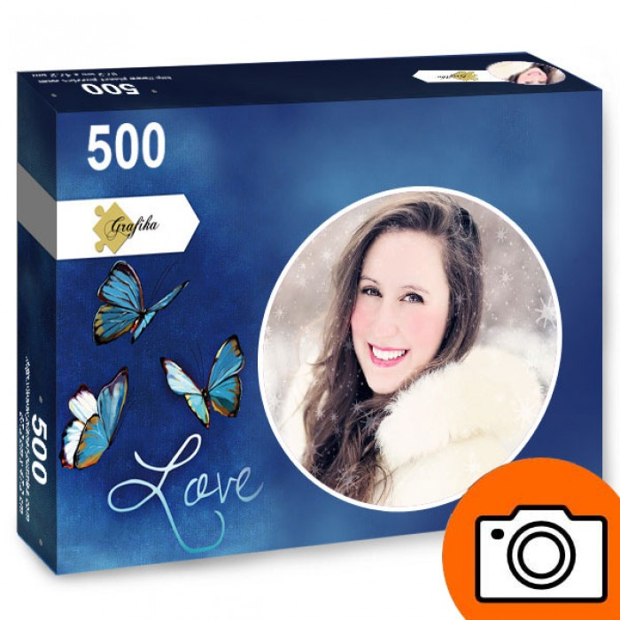 500 pieces personalized photo puzzle - Round