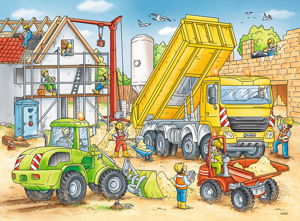 2 Jigsaw Puzzles Construction Ravensburger 07800 24