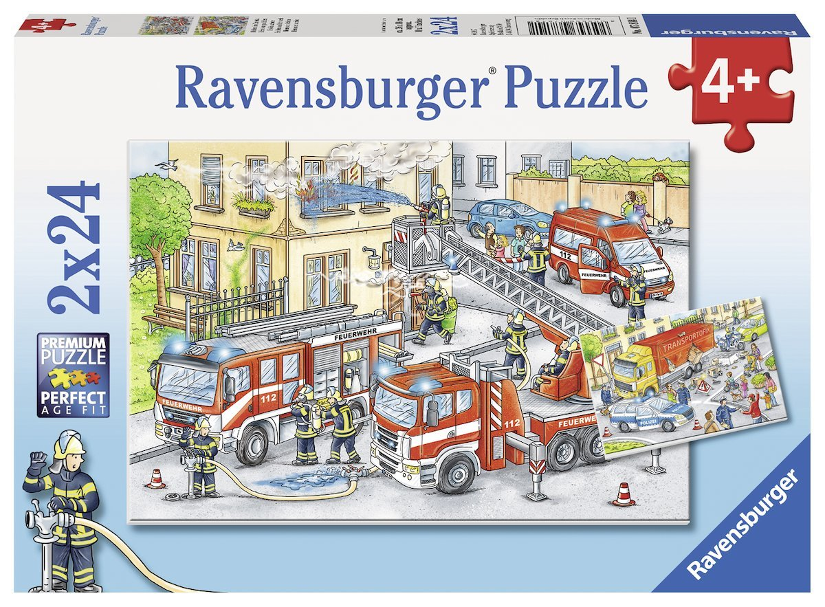 2 jigsaw puzzles heroes in action ravensburger 07814 24. Black Bedroom Furniture Sets. Home Design Ideas